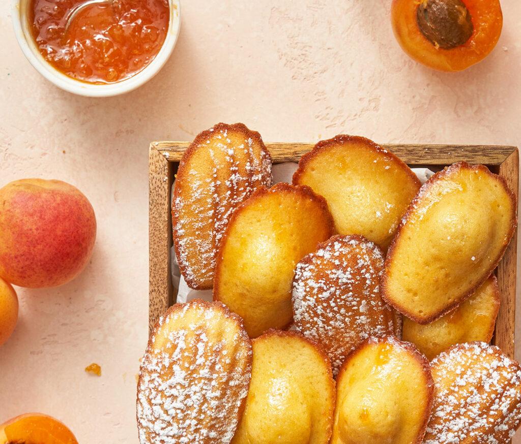 Madeleines with Apricot Glaze