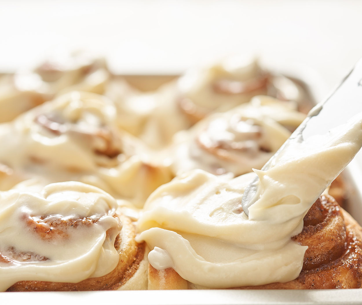 Cardamom Bun with Cream Cheese Frosting